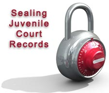 A combination lock next to the words, &#34Sealing Juvenile Court Records.&#34