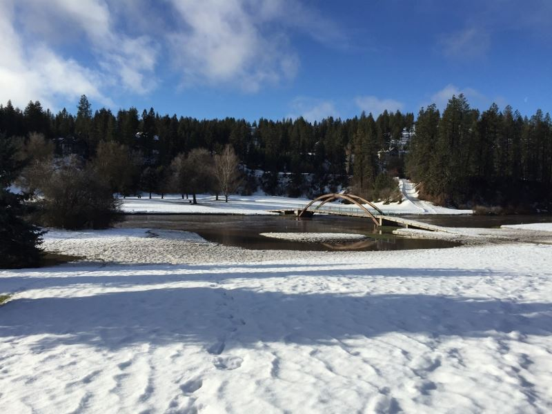 Hangman Valley #9 fairway and #3/#9 bridge on February 17, 2017