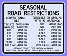 Seasonal Road Restrictions