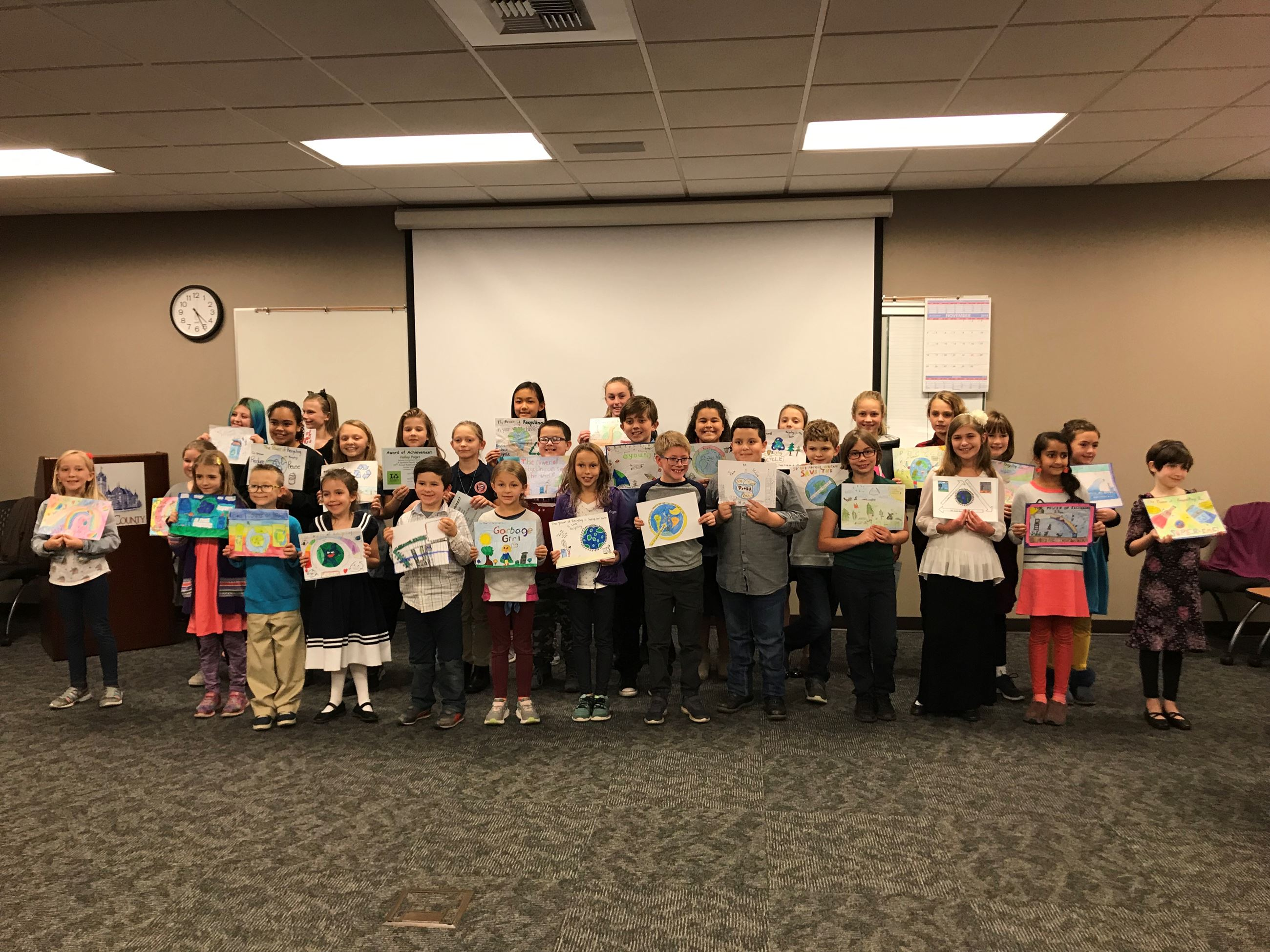 Group Photo_Spokane County Recycles Poster Contest