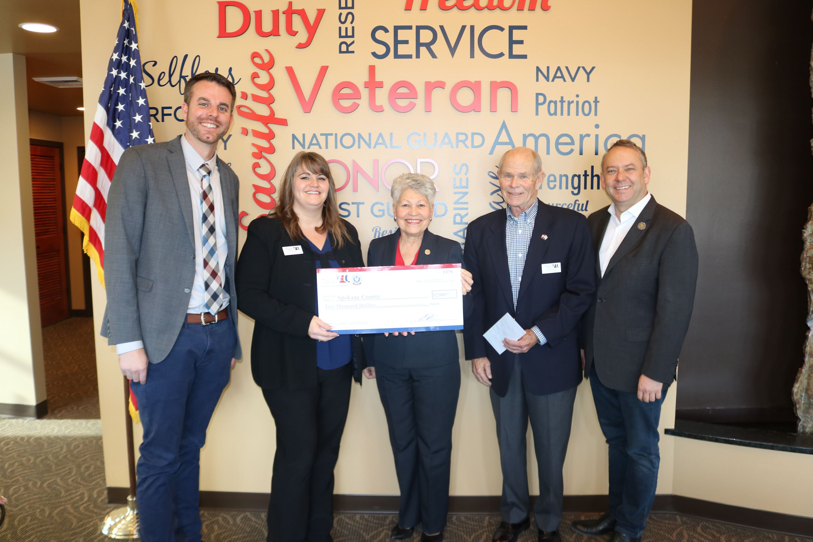 Veteran Services check presentation