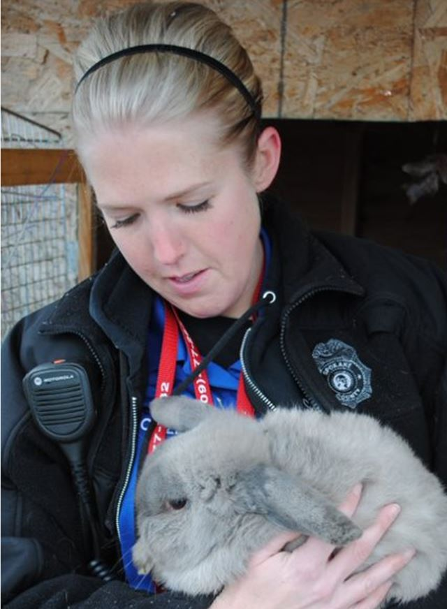 Rescue Worker With Rabbit