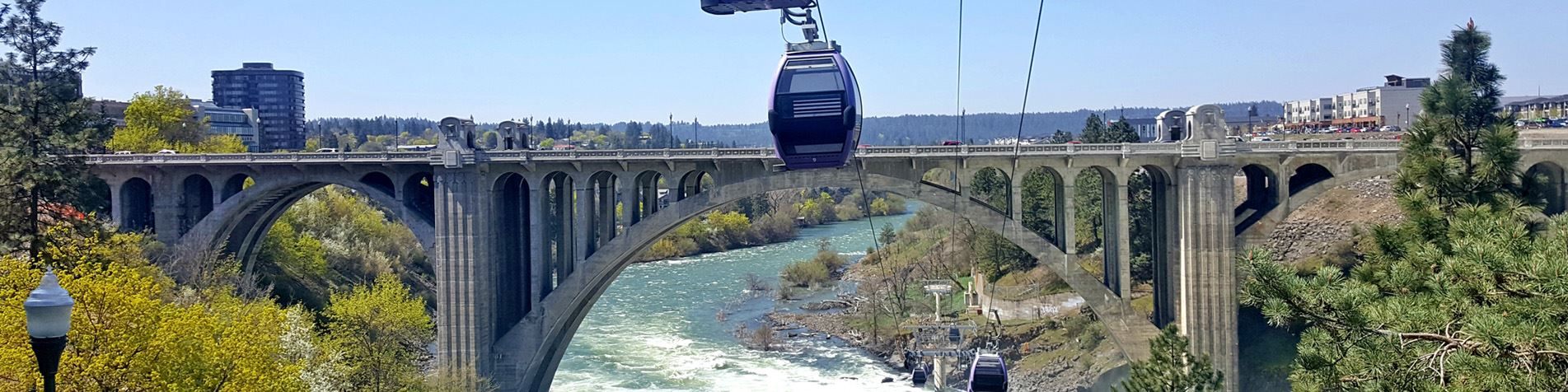 Banner Skyride over Spokane River