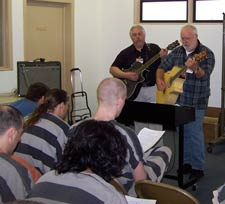 &#34Frank and Steve&#34 lead worship services at Geiger Corrections Center.